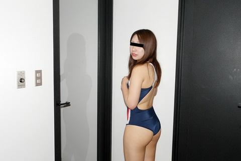 お尻のくい込みが卑猥でしかない!競泳水着が似合う素人娘 太田香織